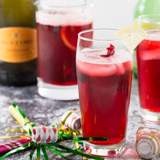 Hibiscus Ginger Prosecco Punch