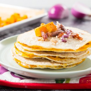 Kabocha Squash and Bacon Mulitas
