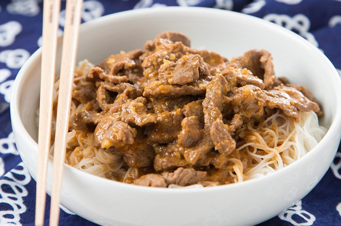 Satay Beef Vermicelli Noodles