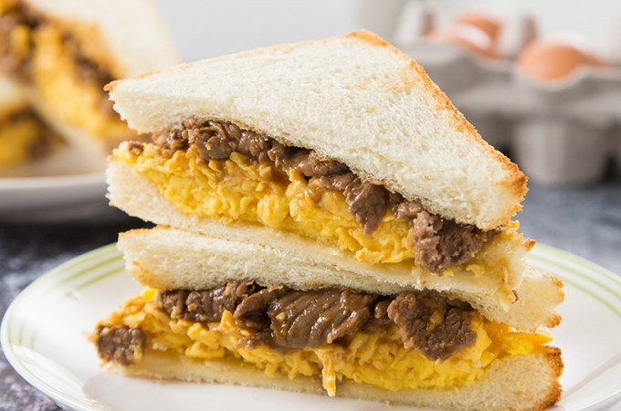 Satay Beef Egg Sandwich