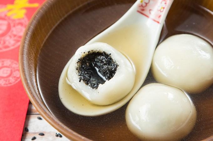 Homemade Sesame Glutinous Rice Dumplings (Tang Yuan)