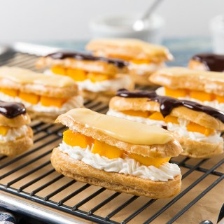 Mango and Cream Eclairs