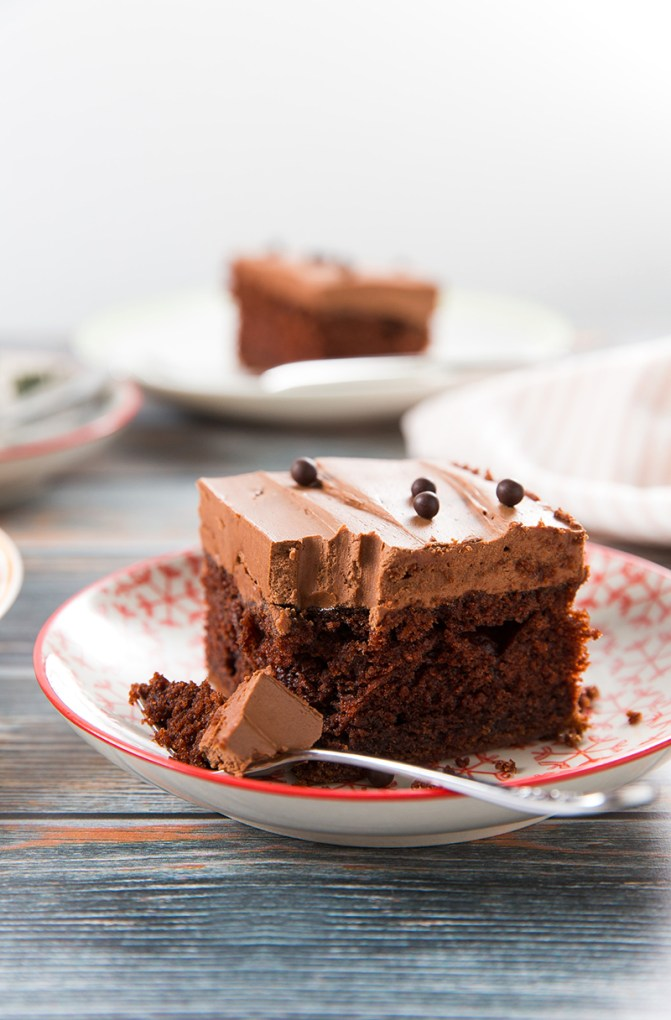 Chocolatey Chocolate Sheet Cake #chocolate #cake #dessert | The Missing Lokness