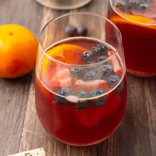 Raspberry Mandarin Rosé Sangria #rosé #sangria #mandarin #cocktail #drink #berries #mothersday #partyrecipe | The Missing Lokness
