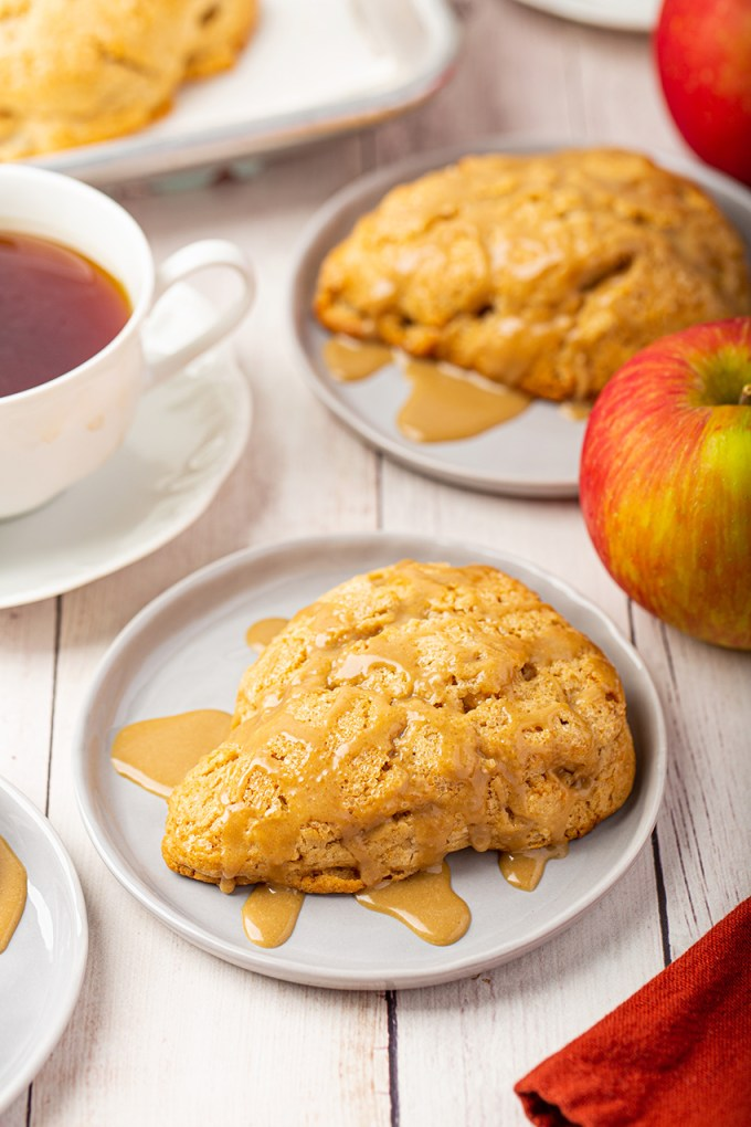 Apple Scones with Brown Sugar Glaze #apple #scone #baking #fallrecipe #applescone #breakfast #afternoontea #dessert #breakfastrecipe | The Missing Lokness