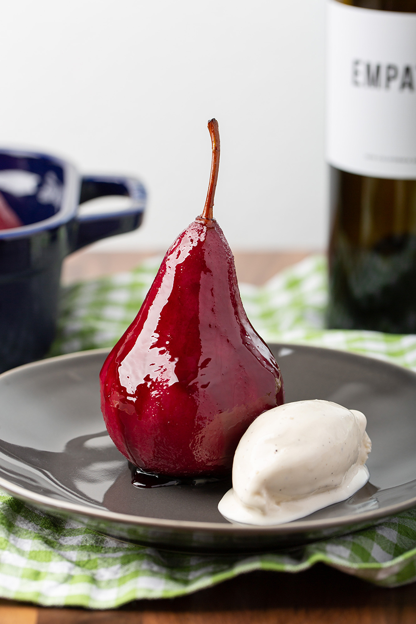 Red Wine Poached Pears | The Missing Lokness