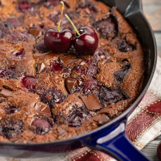 Black Forest Clafoutis (Cherry and Chocolate Clafoutis) #clafoutis #blackforest #chocolate #cherry #dessert #dessertrecipe #frenchrecipe #baking #breakfast #breakfastrecipe | The Missing Lokness