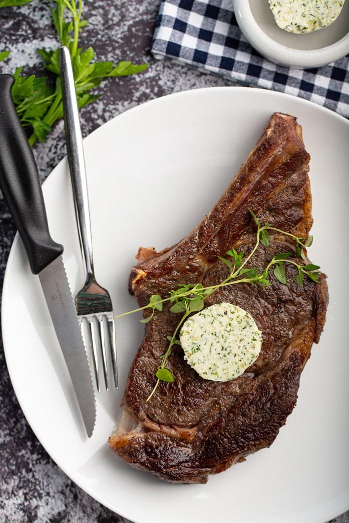Sous Vide Ribeye Steak with Herb Butter #sousvide #steak #herbbutter #easyrecipe #meat #dinner #dinnerrecipe #holidayrecipe | The Missing Lokness