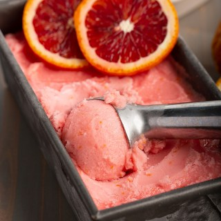 Blood Orange Sorbet #bloodorange #sorbet #citrus #easyrecipe #pink #frozentreat #dessert #dessertrecipe #dairyfree | The Missing Lokness