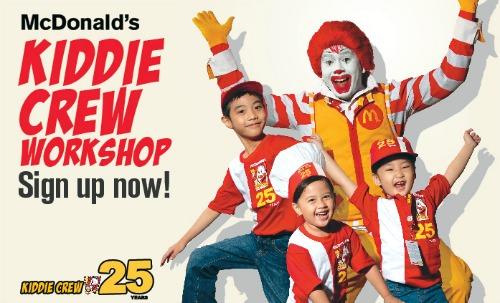 Summer Classes in Cebu - McDonalds Kiddie Crew