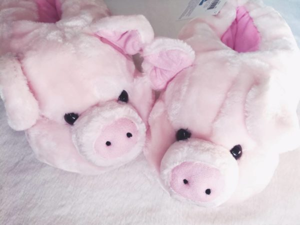 pink pig animal slippers review