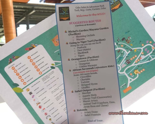 Cebu Safari and Adventure Park Map and Route