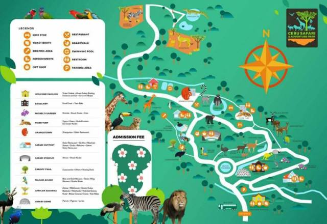 MAP of Cebu safari adventure park