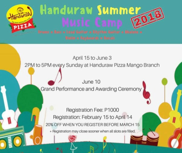 2018 Summer Classes in Cebu - Handuraw Music Camp