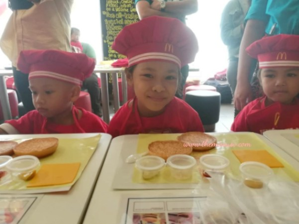 McDonald's Kiddie Crew Workshop - Burger Making Station