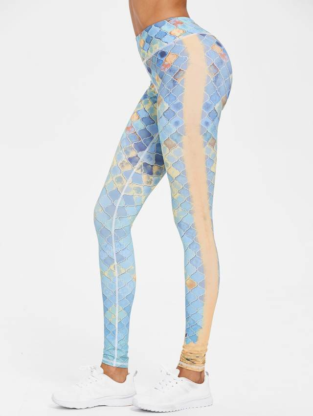 Printed Compression Gym High Waisted Leggings