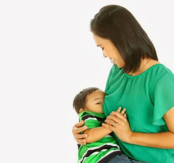 Mommy Teresa with 2nd Child - National Breastfeeding Month