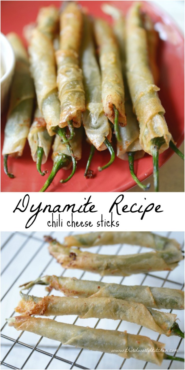Dynamite Recipe - Chili Cheese Sticks