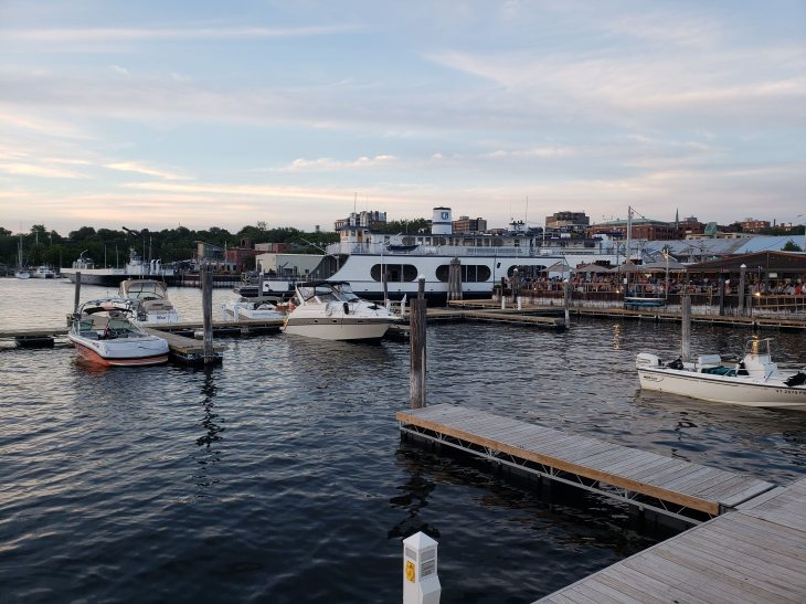 The ferry and Ferry Dock Marina