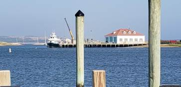 The ferry dock