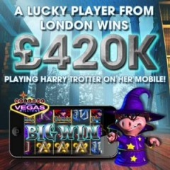 harry trotter mobile slot at vegas mobile casino