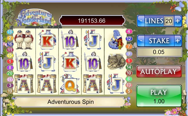 alice in wonderland mobile slots reels