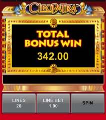 cleopatra mobile slots bonus