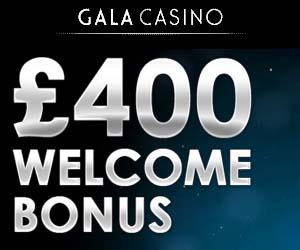 gala mobile casino 400 new player bonus