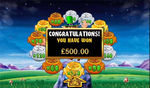 Rainbow riches slot win