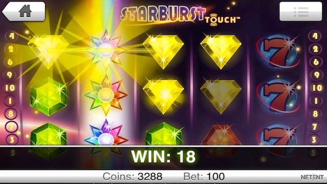 Starburst slots re spin
