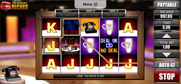 deal or no deal mobile slot reels