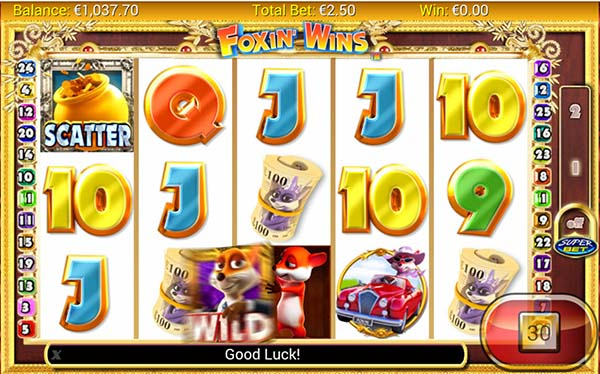 foxin wins mobile slot wild