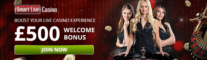 Get your 150% match up to £300 Bonus at Smart Live Casino