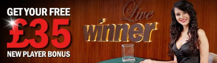 £35 Welocme Bonus at Winner Liive Casino