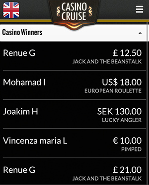casino cruise mobile winners
