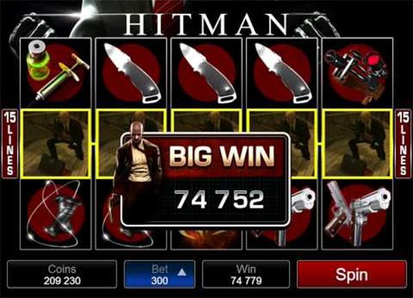 hitman mobile slot win