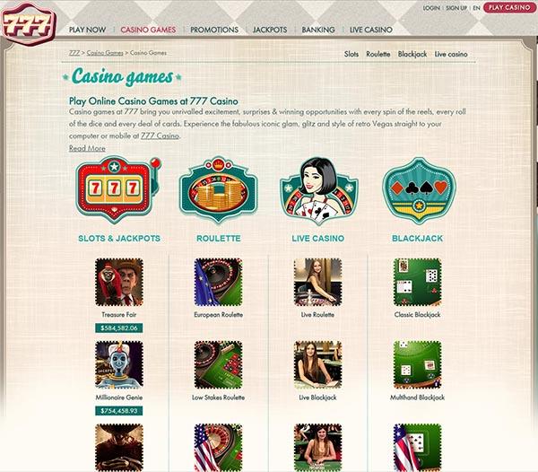 777 casino english