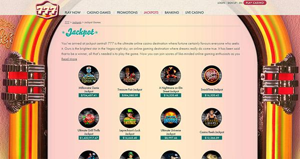 777 casino jackpot
