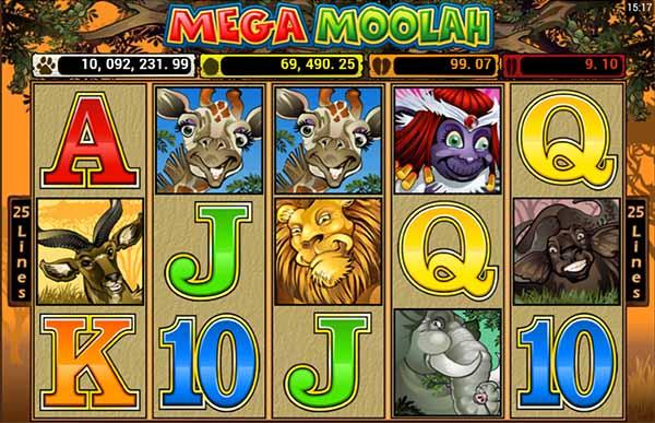 mega moolah slot reels