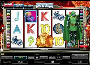 Fantastic Four Mobile Slot bonus