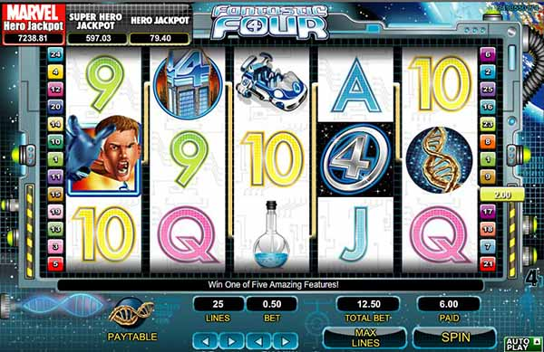 Fantastic Four Mobile slot reels