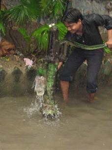 Pumping drinking water