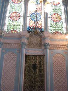 Inside the synagogue