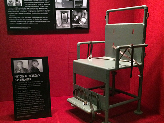 The Mob Museum In Las Vegas Gas Chamber Chair
