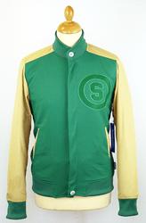 Omega SUPREMEBEING retro waffle varsity jacket £52.50