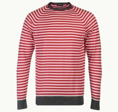 John Smedley LONGNOR candy stripe sweater in sea island cotton £81
