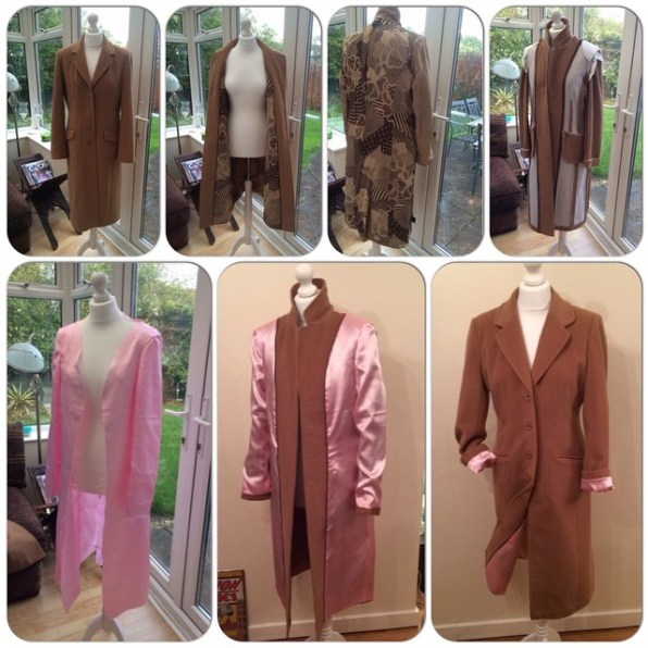 For the more adventurous: a complete lining change for this camel coat!