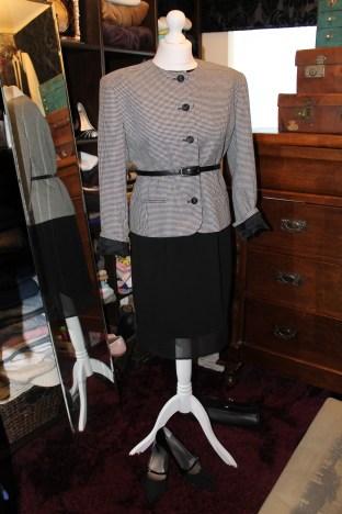 Vintage houndstooth boxy jacket £7
