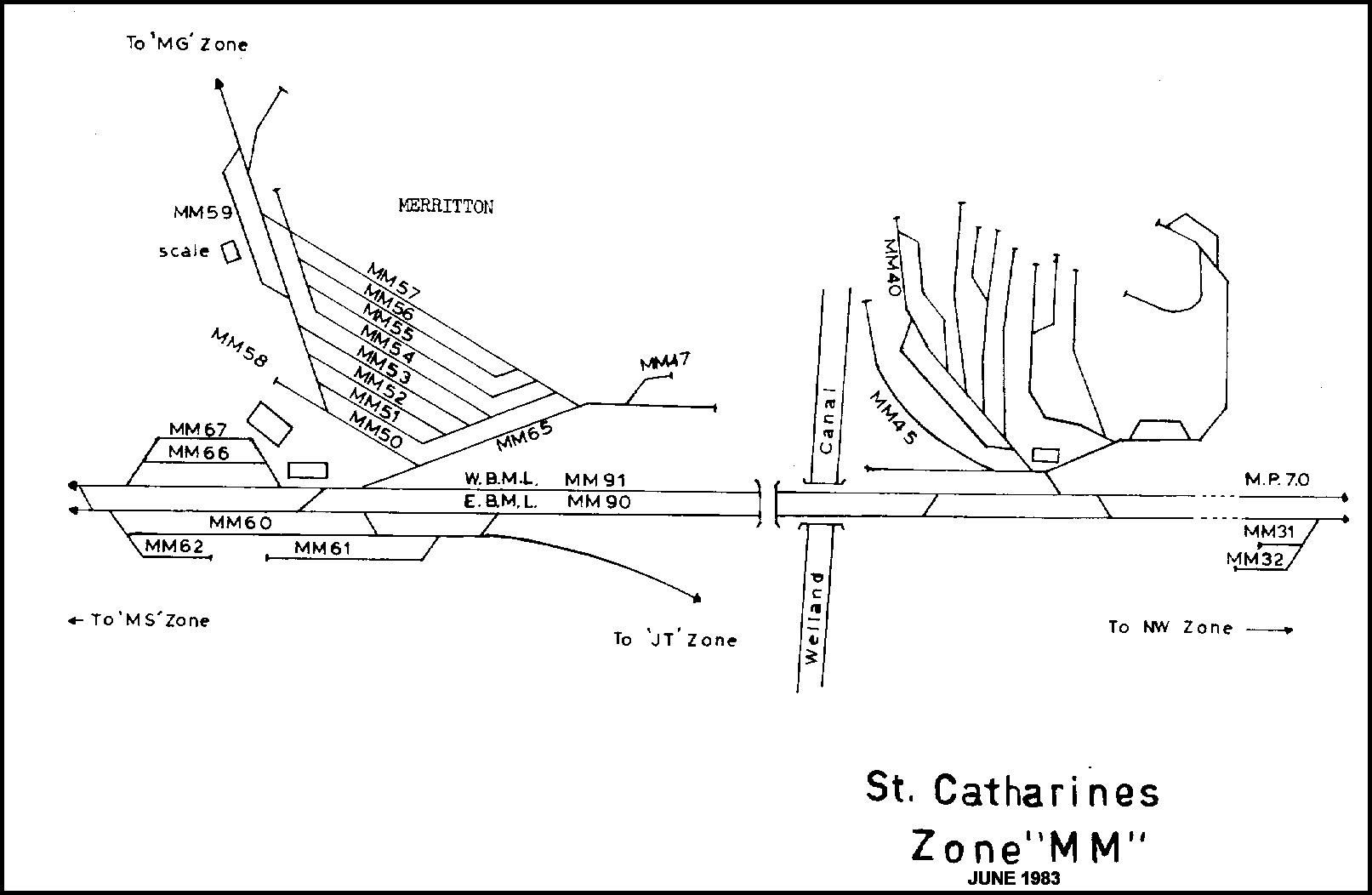 St Catharines Cnr Track Maps S Niagara Electrics