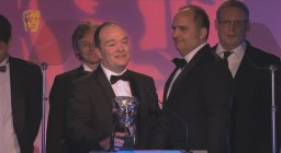 Mike collects his BAFTA